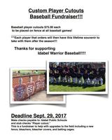 Baseball Player Cutout Fundraiser